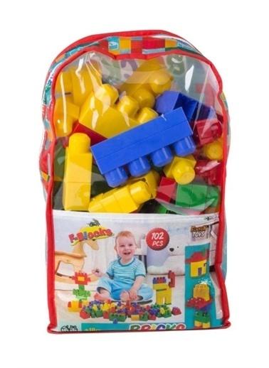 Furkan Toys Furkan Oyuncak F-Blocks 102 Parça LEGO Seti Çantalı Renkli